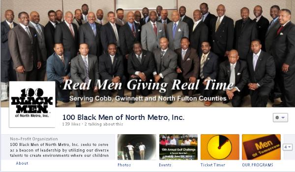 Facebook cover image - 100 Black Men of North Metro Inc