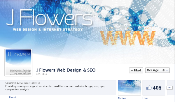 Facebook cover image - J Flowers