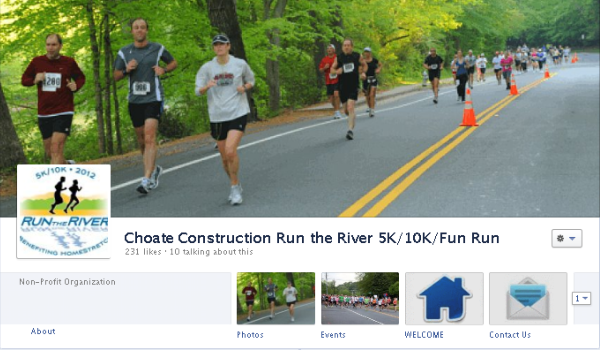 Facebook cover image - Run the River