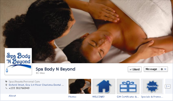 Facebook cover image - Spa Body N Beyond